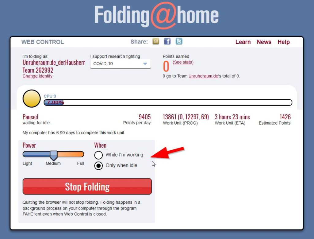 Screenshot: folding-at-home_setup_03
